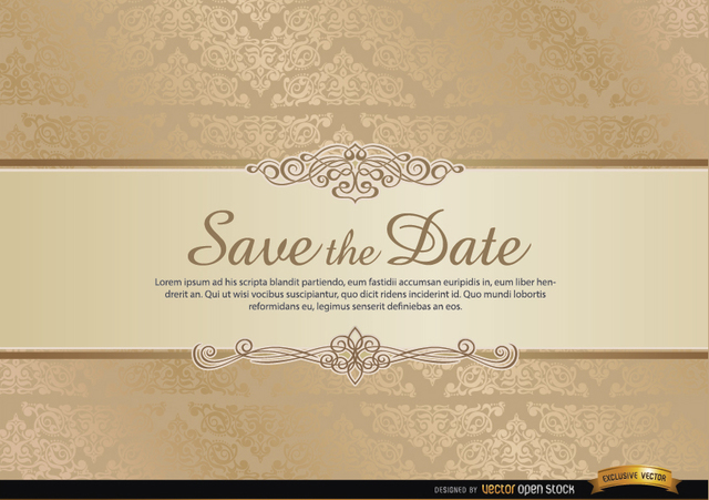 Free Special invitation card with floral ornaments