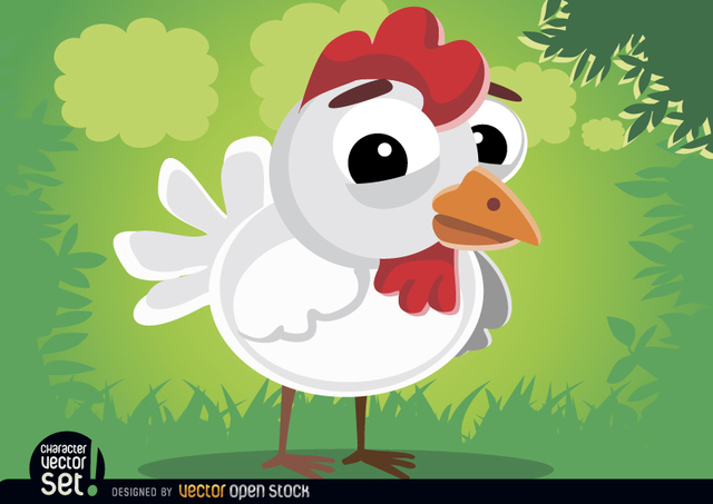 Free Cute hen animal cartoon