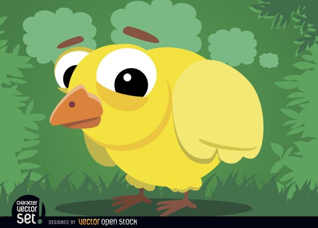 Free Baby chicken cartoon animal