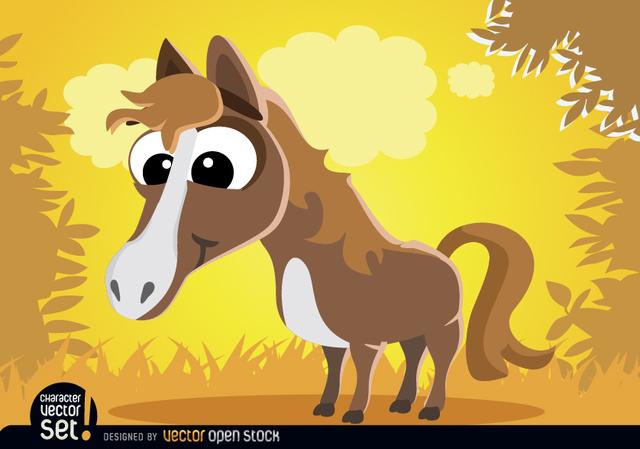 Free Funny Horse cartoon animal