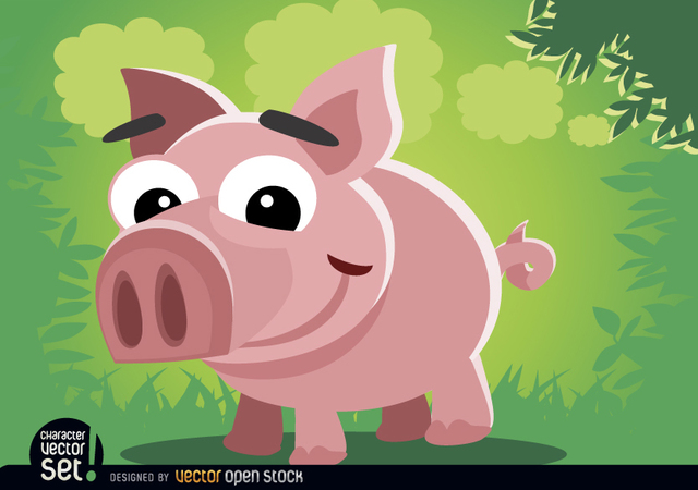 Free Funny pig cartoon animal