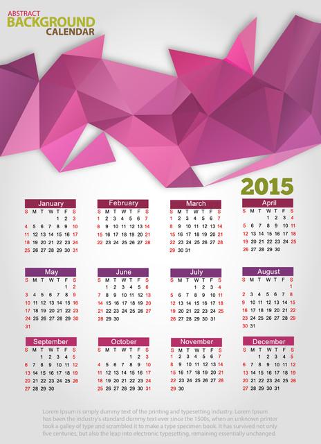 Creative Triangle Origami 2015 Calendar