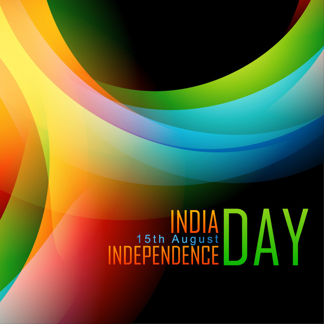 Free Indian Independent Day Colorful Background