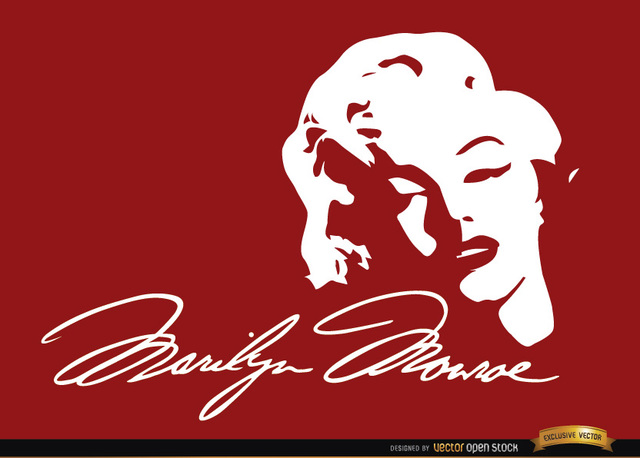 Free Marilyn Monroe face signature background