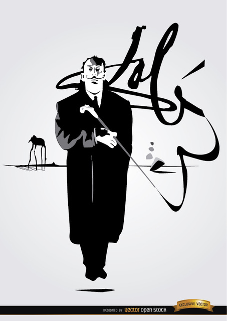Free Vectors: Salvador Dali painting signature | Vector Open Stock