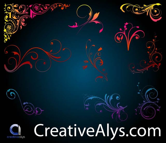 Free Small Floral Ornaments and Corners