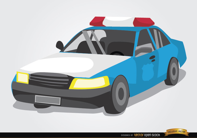 Free Police car cartoon style