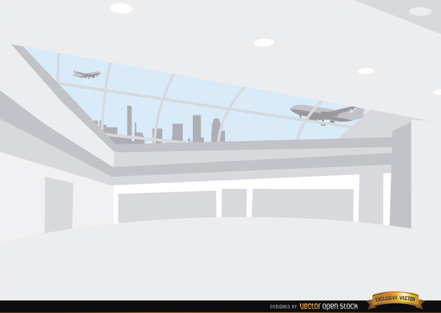 Free Inside airport hall background