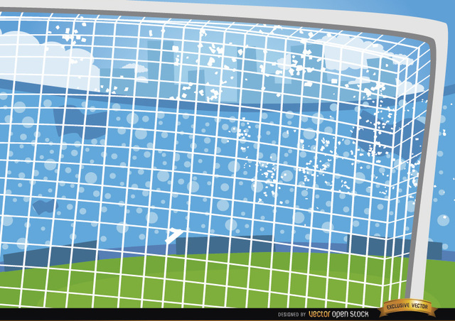 Free Football goalposts cartoon background