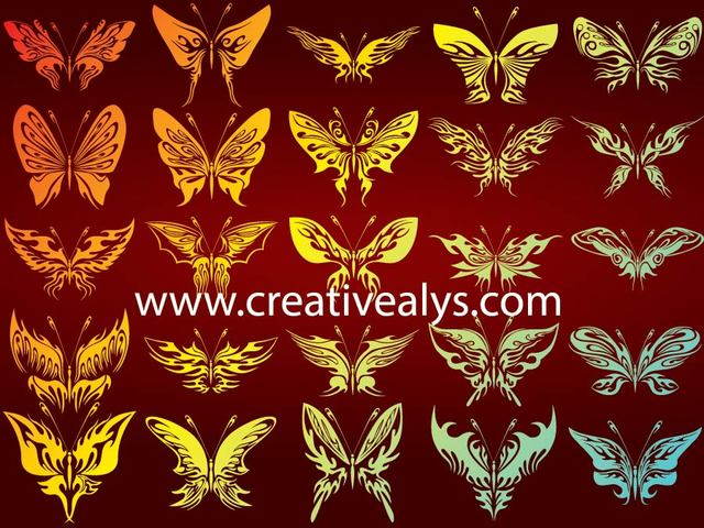Free Decorative Silhouette Butterfly Pack