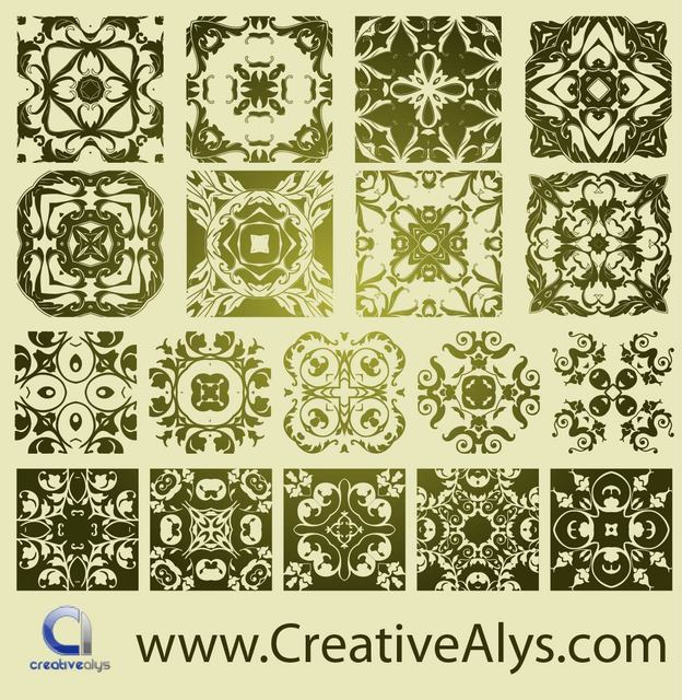 Free Classic Antique Florist Pattern Set
