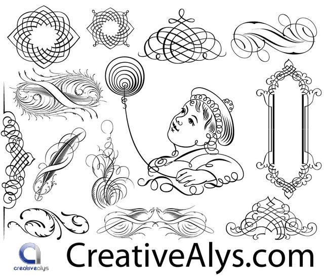Free Creative Calligraphic Frame & Ornaments