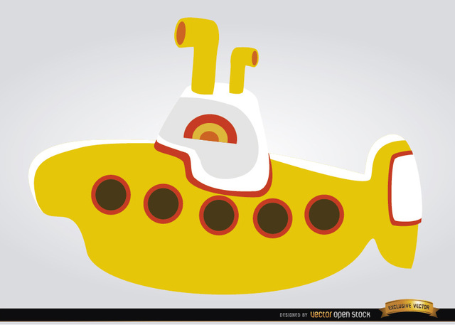 Free Yellow submarine children toy