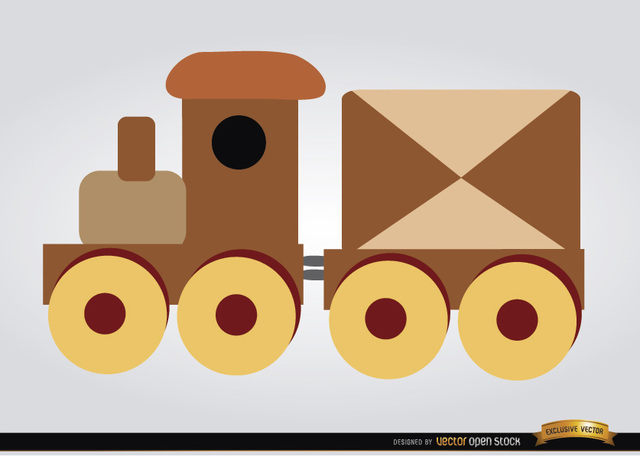 Free Wooden train children toy