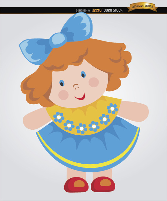 Free Rag doll cartoon little girl