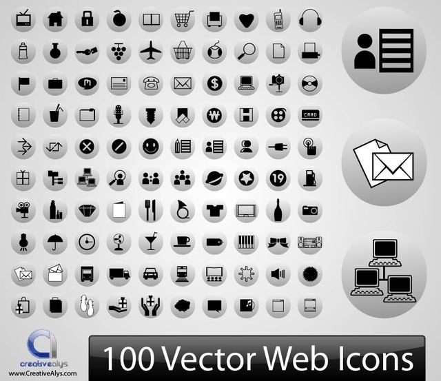 Free 100s of Silhouette Web Icons
