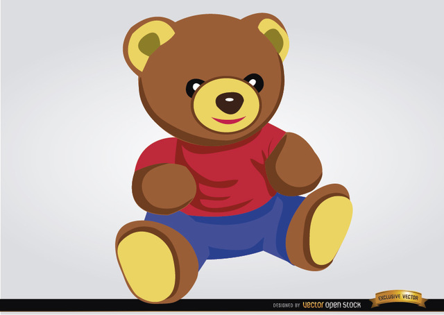 Free Teddy bear baby toy
