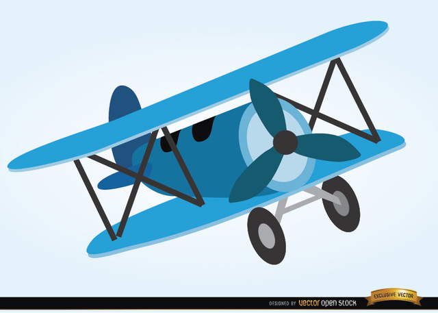 Free Airplane toy cartoon style