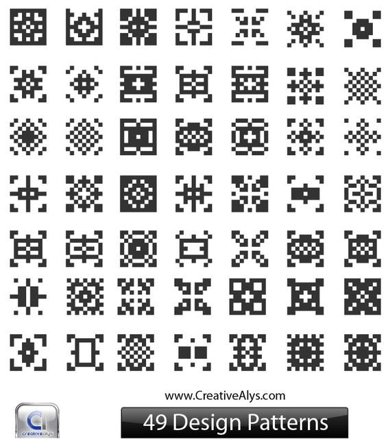 Free Black & White Abstract QR Pattern Set