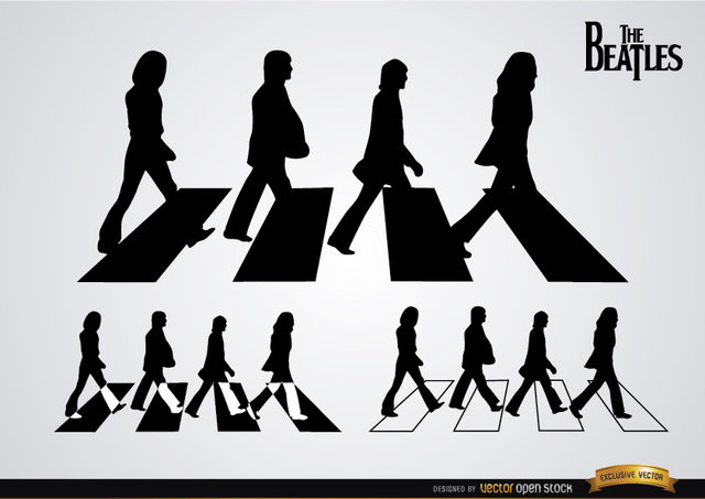 Free The Beatles Abbey Road silhouettes