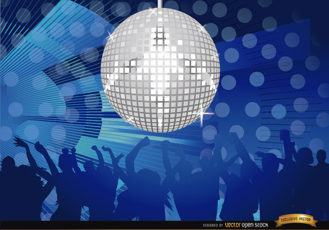 Free Mirror ball disco night party background