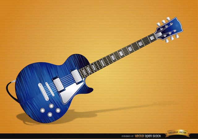 Free Blue electric guitar instrument