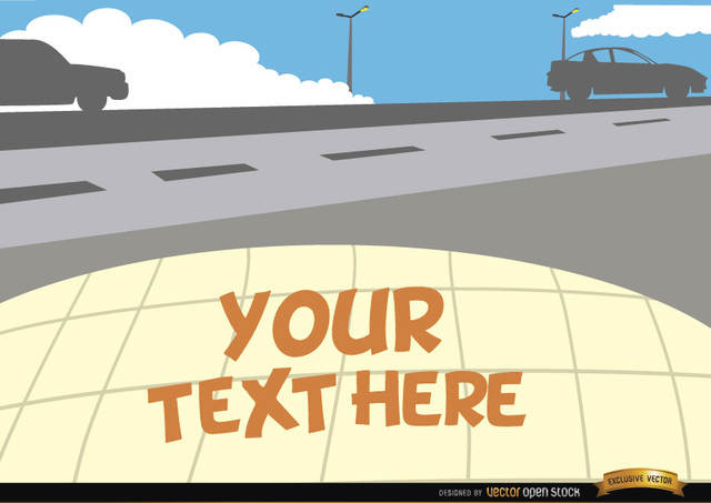 Free Cars on the road with text space