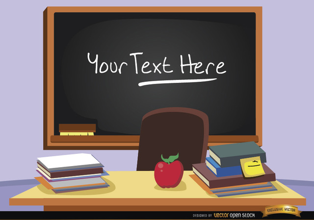 Free Blackboard in classroom with text