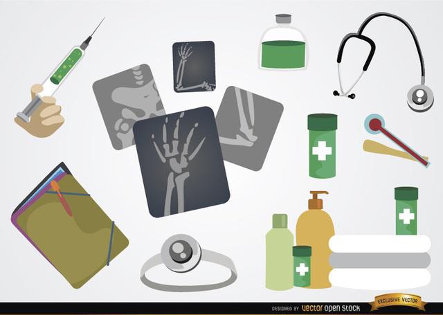 Free Medical Cartoon element set