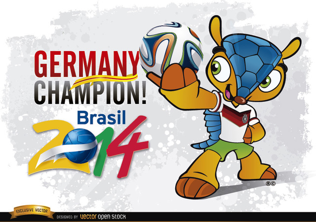 Free Germany Champion Mascot Brazil 2014