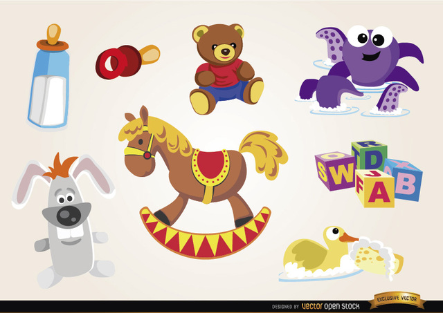 Free Baby toys and elements set