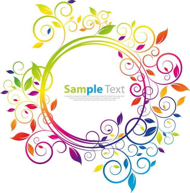 Free Simplistic Rainbow Floral Circular Frame