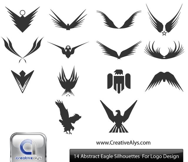 Free Silhouette Abstract Eagles & Wings Pack