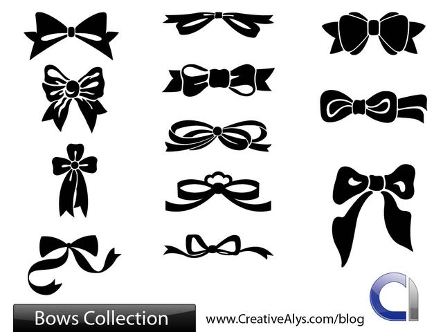 Free Flat Bows and Ribbon Pack