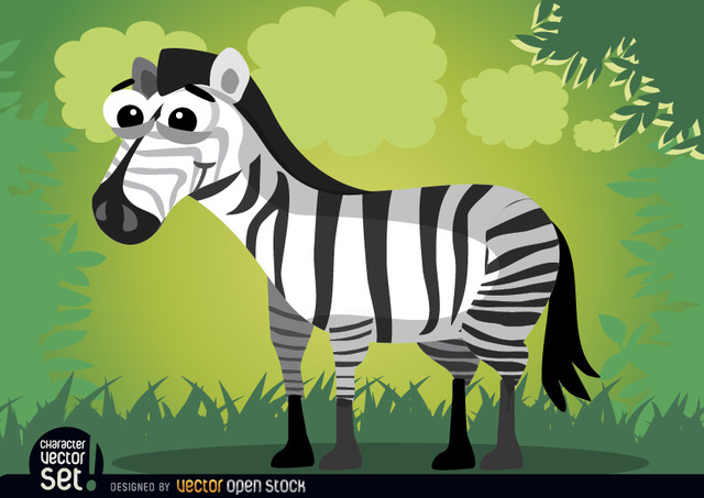 Free Smiling cartoon zebra animal