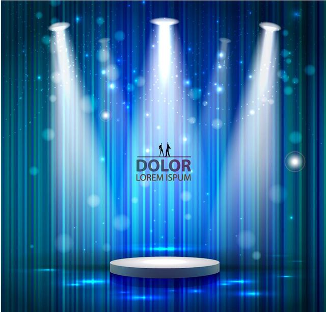 Free Stage Lighting Blue Linen Background