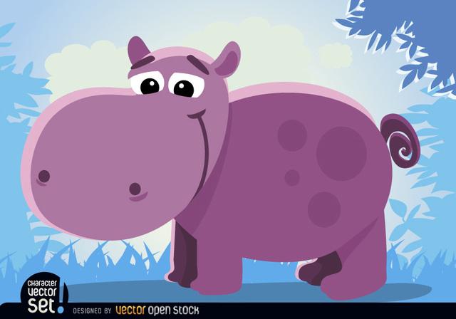 Free Cartoon hippopotamus Animal