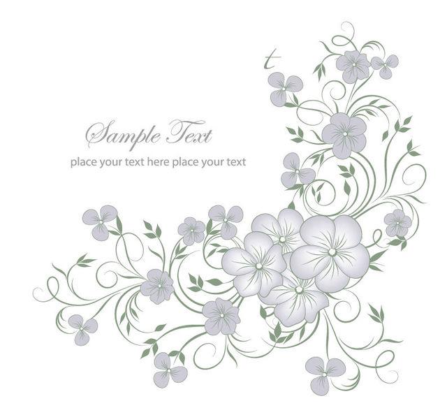Free Elegant Full Blossom Flourish Greeting Card