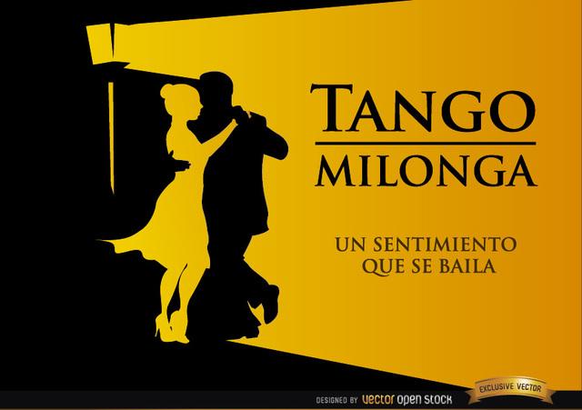 Free Pareja bailando Tango Milonga fondo