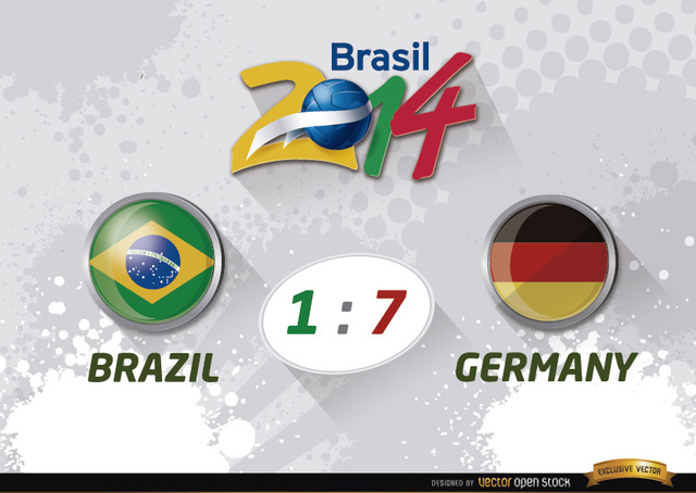 Free Brazil 1 - 7 Germany results World Cup