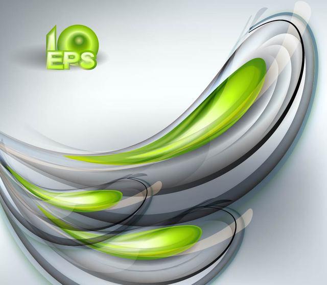 Free Halo of Green & Grey Fluorescent Splash Background