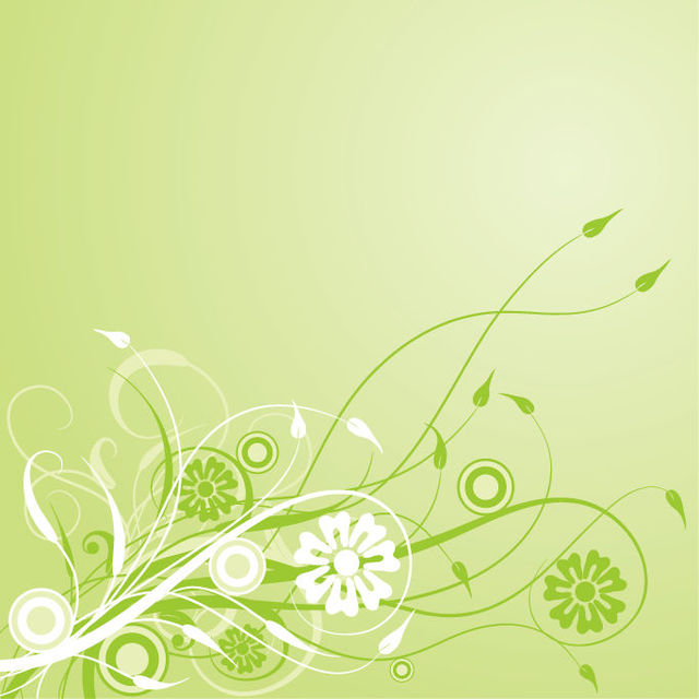 Free Green Swirling Creeper Leafy Background