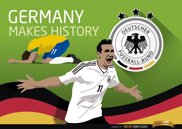 Free Germany triumphs over Brazil makes history
