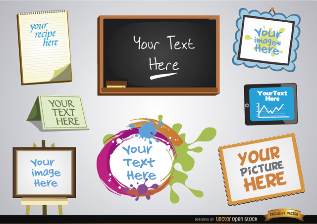 Free Vectors: Frames for messages and images set | Vector Open Stock