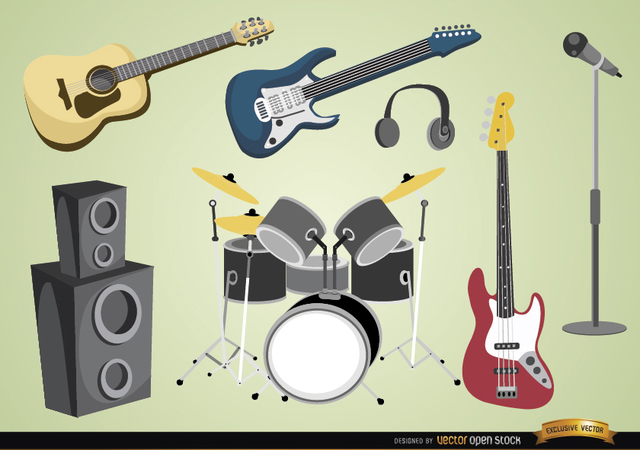 Free Vectors: Musical instruments and devices | Vector Open Stock