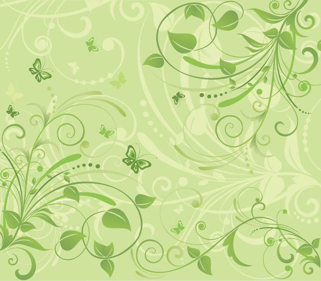 Free Fresh Floral Background with Funky Butterflies
