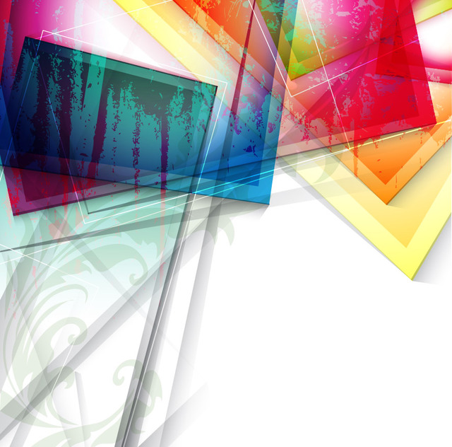 Free Vectors Fluorescent Colorful Glass Sheets Abstract Background