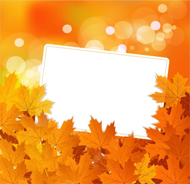 Free Autumn Maple Leaves Background with Banner