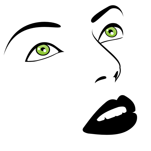 Free Vectors: Green Eyes Woman Face Sketch | Free Vector