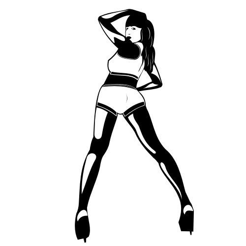 Free Woman Dancing in a Club Silhouette